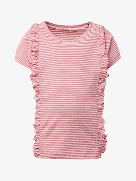 Gestreiftes Shirt mit Rüschen-Details - 7 - TOM TAILOR