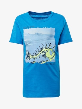 T-Shirt mit Brust-Print - 7 - TOM TAILOR