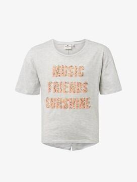 T-Shirt mit Glitzer-Print - 7 - TOM TAILOR