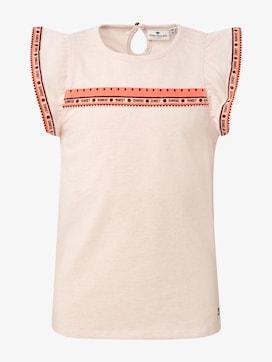 T-Shirt mit Fashion-Tape - 1 - TOM TAILOR