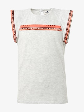 T-Shirt mit Fashion-Tape - 1 - TOM TAILOR