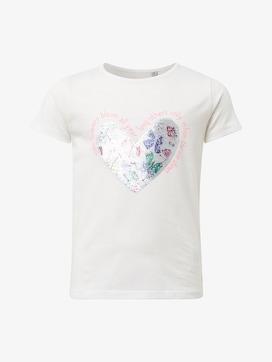 T-shirt met paillettenhart - 7 - TOM TAILOR