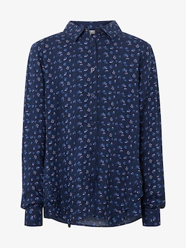 Blouse with flounce at the front - 7 - TOM TAILOR
