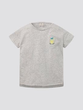 T-Shirt mit dezentem Print auf der Brust - 7 - TOM TAILOR