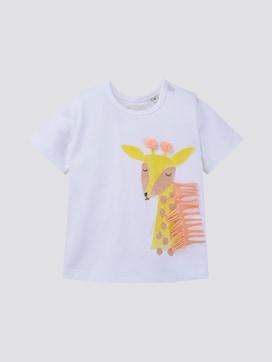 T-shirt met print en franjes - 7 - TOM TAILOR