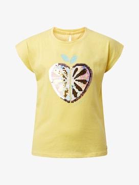 T-Shirt mit Wendepailletten - 7 - TOM TAILOR