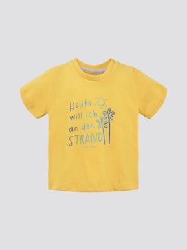 T-Shirt mit Schrift-Print - 7 - TOM TAILOR