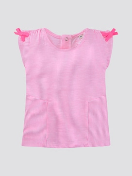 Gestreiftes T-Shirt mit Schleifen - 7 - TOM TAILOR