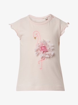 T-shirt with frill detail - 7 - TOM TAILOR