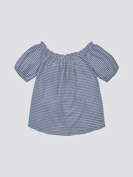 Patterned off-shoulder T-shirt - 7 - TOM TAILOR