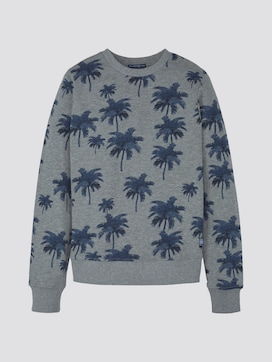 Sweatshirt mit Palmen-Print - 7 - TOM TAILOR