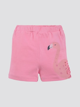 Shorts with flamingo print - 7 - TOM TAILOR