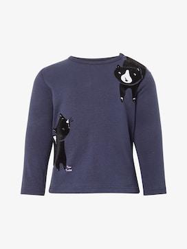 Lange mouwen shirt met kattenprint - 7 - TOM TAILOR