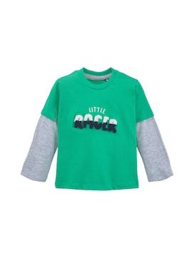 Baby Langarmshirt mit Stickerei, grün