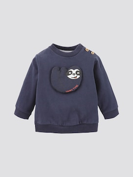 Sweatshirt with animal motif - 7 - TOM TAILOR