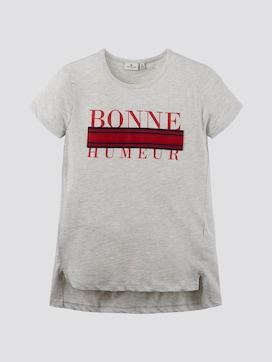 Langes T-Shirt mit Schriftprint - 7 - TOM TAILOR