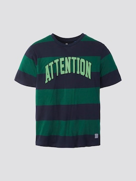 Gestreept t-shirt met print - 7 - TOM TAILOR