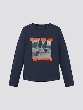 Long-sleeved shirt with photo print - 7 - TOM TAILOR