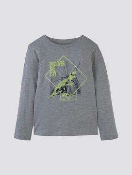 Lange mouwen shirt met print - 7 - TOM TAILOR