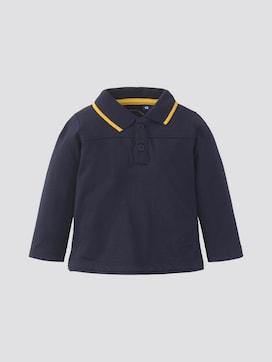Langarm-Poloshirt mit Rücken-Print - 7 - TOM TAILOR