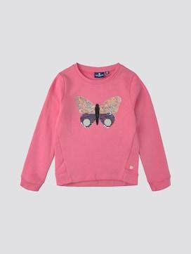 Sweatshirt met paillettenmotief - 7 - TOM TAILOR