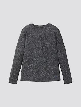 Langarmshirt im Mélange-Look - 7 - TOM TAILOR