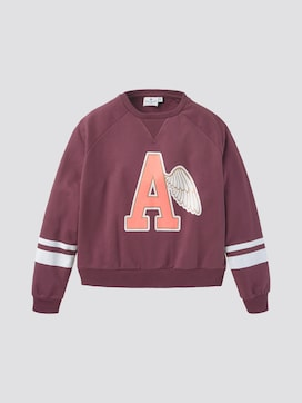 Sweatshirt met print en strepen - 7 - TOM TAILOR