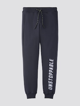 Jogging trousers with writing print - 7 - TOM TAILOR