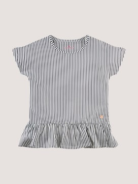 Striped T-shirt with flounce - 7 - TOM TAILOR