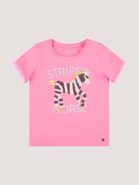 Verspieltes T-Shirt mit Pailletten-Artwork - 7 - TOM TAILOR