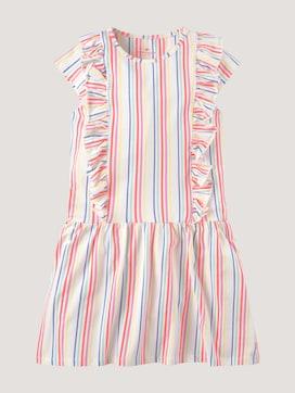 Gestreiftes Jerseykleid mit Rüschen - 7 - TOM TAILOR