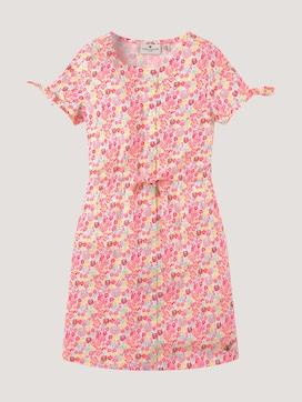 Geblümtes Jerseykleid mit Knoten-Details - 7 - TOM TAILOR