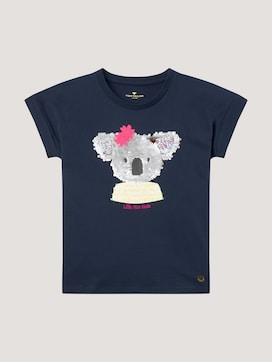 T-Shirt mit Pailletten-Motiv - 7 - TOM TAILOR