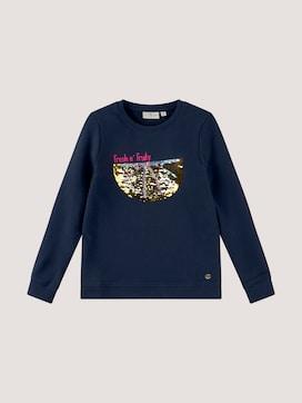 Sweatshirt met pailletten print - 7 - TOM TAILOR