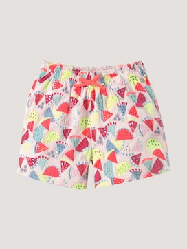 Strukturierte Shorts mit Melonen-Muster - 7 - TOM TAILOR