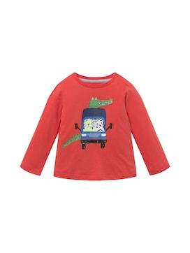 Baby Langarmshirt mit beidseitigem Print, rot