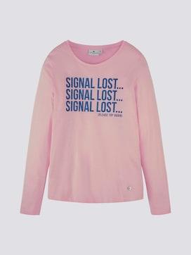 Shirt met lange mouwen en glitterprint - 7 - TOM TAILOR