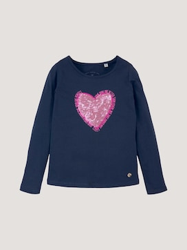 long-sleeved shirt with appliqués - 7 - TOM TAILOR