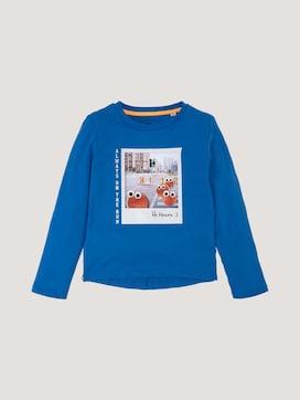 Langarmshirt mit Print und Applikationen - 7 - TOM TAILOR