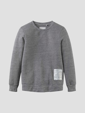 Sweatshirt with a print badge - 7 - TOM TAILOR