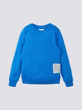 Sweatshirt mit Print-Badge - 7 - TOM TAILOR