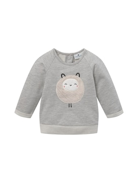 Baby Sweatshirt mit Artwork, grau