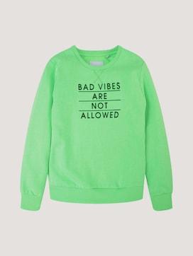Sweatshirt with appliqués - 7 - TOM TAILOR