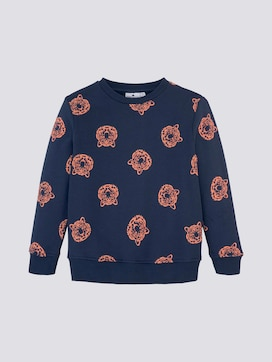 Sweatshirt mit Tigerprint - 7 - TOM TAILOR