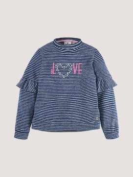 Gestreiftes Sweatshirt mit Artwork - 7 - TOM TAILOR