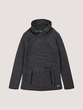 Striped pullover with a stand-up collar - 7 - TOM TAILOR