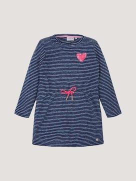 Gestreiftes Jerseykleid mit Paillettenmotiv - 7 - TOM TAILOR