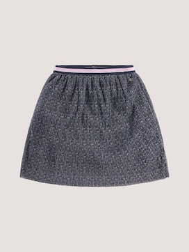 Pleated skirt made of mesh with a print - 7 - TOM TAILOR