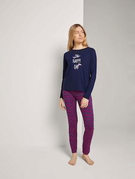 Gestreiftes Pyjama Set mit Print - 1 - TOM TAILOR