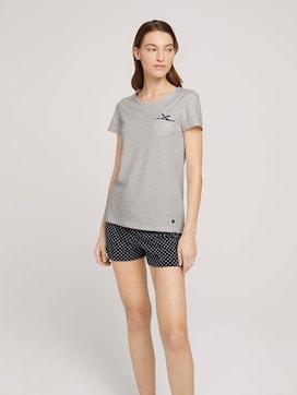 Gemustertes Pyjama-Set mit Shorts - 1 - TOM TAILOR